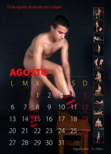 Mes de Agosto del calendario hecho por el C.F. Hijar