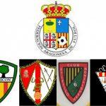 Escudos de la FAF y de los equipos hablados en el reportaje