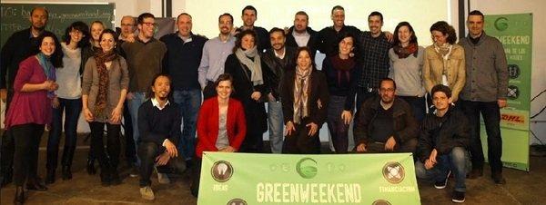 Finalistas y organizadores de la primera edición en Barcelona  de coemprendedores Greenweekend