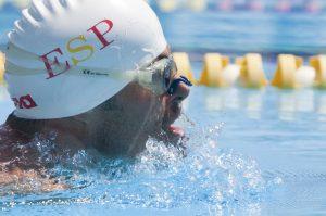 Javier Hernández en los Juegos Paralímpicos de Londres 2012. Foto cedida por Jorge Tabuenca, diario AS.