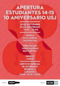 Cartel de la fiesta por la apertura del curso 2014-2015