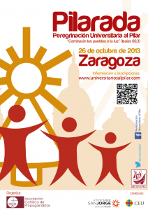 cartel peregrinacion Pilar