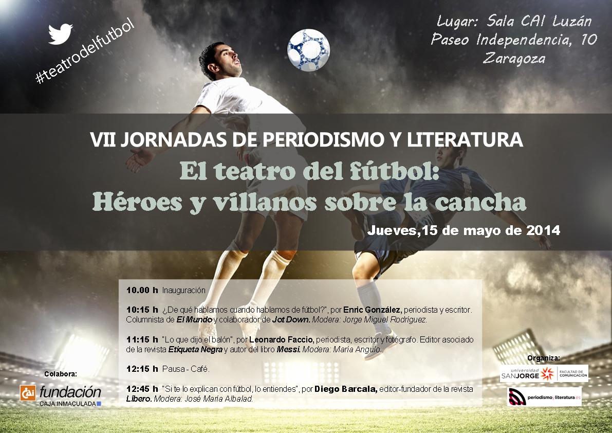 Cartel y programa: VII Jornadas Periodismo y Literatura