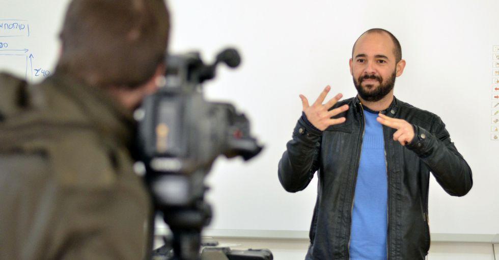 """Veru Rodriguez sueña con una """"televisión apta para todos los públicos"""". Fotografía: Voz de Galicia."""
