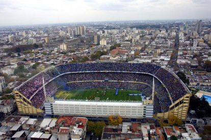 Imagen panorámica de La Bombonera, el estadio de Boca.
